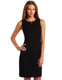 Anne Klein Women's Split Neck Shift Dress #anne klein #women #fashion #dress