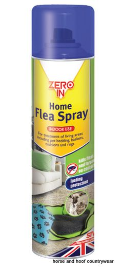 STV International Home Flea Spray For treatment of living areas including pet bedding baskets cushions and rugs Do not use on pets humans or human bedding.