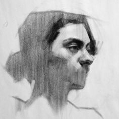 Charcoal on newsprint - -class demo, #feliciaforte #portrait #portraitpainting #allaprima #allaprimapainting #oilpainting #demonstration #portraitworkshop #artclass #detroit #detroitart #drawing #charcoaldrawing