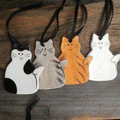 Cat Ornament new kitten Ornament handmade by BeachwoodStreet