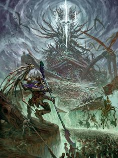 Warhammer Age of Sigmar Artwork Wallpaper | Nagash undead horde amazing pic | Battletome: Legions of Nagash art http://wellofeternitypl.blogspot.com #warhammer #ageofsigmar #aos #sigmar #wh #whfb #gw #gamesworkshop #wellofeternity #miniatures #wargaming #hobby #fantasyart #art #artwork #wallpaper