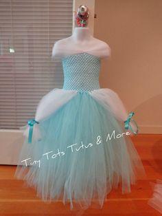 Cinderella inspired tutu dress by TinyTotsTutusAndMore on Etsy, $35.00