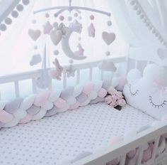 Baby Girl Bedding Sets, Cot Bedding Sets, Baby Bedroom, Baby Room Decor, Baby Boy Rooms, Baby Cot Bumper, Baby Cribs, Baby Room Neutral, Girl Room