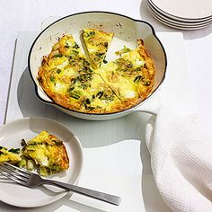 Scallion, Mint, and Feta Omelet:  This Mediterranean meal comes together quick. Fresh mint and salty feta make a flavorful combo, while optional pine nuts add crunch. Toss a quick salad on the side. Get the recipe   Health.com