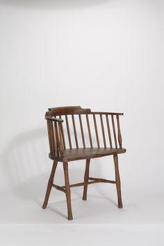 """Entwurf unbekannt, Amerikanischer """"Windsor""""-Stuhl (um 1870)"""