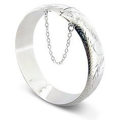 9mm 38 Etched Hinged Sterling Silver Latching Bangle Bracelets ** To view further for this item, visit the image link.