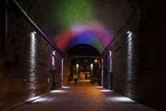 Clink street project represents an immersive transformation of lights and colors, with the purpose of adding value to a less walked Victorian railway bridge. Funded by the South Wark council, Clink street has been a great opportunity for Halo's designers and suppliers Architainment Lighting.  135sq.m in size, made of 9,600 nodes capable of producing any shades of color on the visible spectrum, driven by the latest imaging technology system, and curved to the profile of an old Victorian…