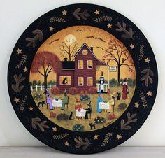 halloween decoration primitive folk art hand by ravensbendfolkart