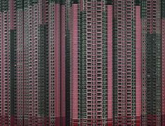 "Michael Wolf, from the exhibition ""Architecture of Density"".  Stunning and sobering, the photographs of high-rise apartment buildings in Hong Kong by German photographer Michael Wolf reveal his personal fascination with life in mega-cities."