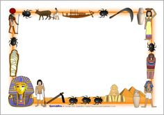 Ancient Egypt Page Borders Egyptian Crafts, Egyptian Party, History Of Wine, Mystery Of History, Ancient Egypt Activities, Horrible Histories, World Thinking Day, Magic Treehouse, Page Borders