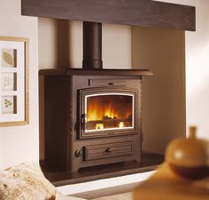 Wood boiler stoves explained, what is a wood boiler stove, wood burning stove central heating Design Your Home, House Design, Boiler Stoves, Wood Burning Fireplace Inserts, Stoves Cookers, Stove Accessories, Fireplace Design, Fireplace Ideas, Pellet Stove