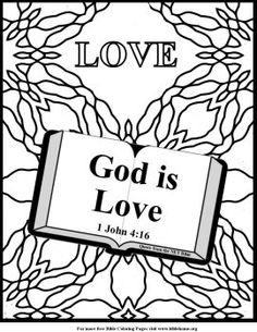 Unit 3 - God is love coloring page