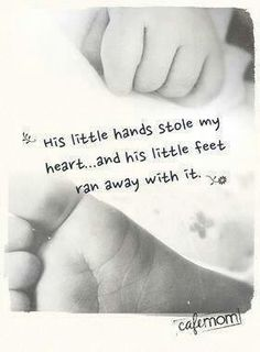 His little hands stole my heart...
