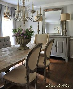 Rustic Chic Dining Chairs a rustic farmhouse table paired with beautiful tufted dining