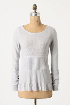 Anthropologie Guinevere Lozenge Pullover Wool Blend Sweater