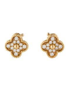 Van Cleef & Arpels Vintage Alhambra Diamond Earrings