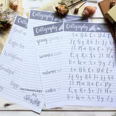 Angol ABC - Kalligráfia gyakorló sablon - Oszlánszki ART Calligraphy Tutorial, How To Write Calligraphy, Bujo, Bullet Journal, Templates, Writing, Inspiration, Art, Mocha