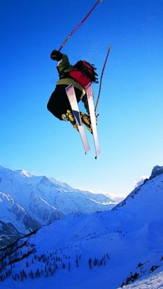 Extreme skiing. I have so much respect and awe for the guys and girls that get out there and ski like this! It's amazing and bind blowing... Been watching the Olympics. :O