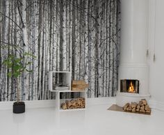 Hey, look at this wallpaper from Rebel Walls, Birch Trunks! #rebelwalls #wallpaper #wallmurals