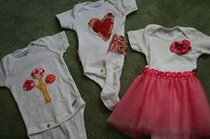 Girly onsies. Easy and fast.