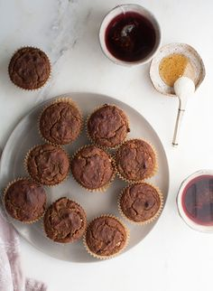 Banana Walnut Coconut Muffins taste like a moist banana bread. Coconut flour holds them together, while the primary source of fat is from coconut oil. While the cinnamon and walnuts add nice familiar breakfast flavors.