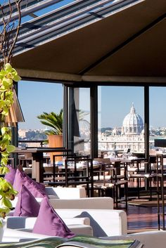 Head up to La Terrasse Cuisine & Lounge to dine alfresco and gawk at the skyline views. Sofitel Rome Villa Borghese (Rome, Italy) - Jetsetter
