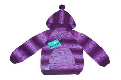 Violet knitted hoodie for boy EU size 98, 2-2,5 years old by MollyTheSheep on Etsy