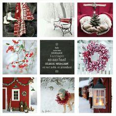 Hele warme, gezellige kerstdagen iedereen! #moodboard #mosaic #collage…