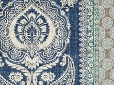 P Kaufmann Touch Of Provence Mediterranean Blue Stripes Fabric
