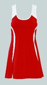 SSI Caroline Dress with Racer-Back Red-White $35