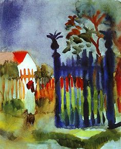 August Macke August Macke( 1887 – 1914) was one of the leading members of the German Expressionist group Der Blaue Reiter (The Blue Rider).