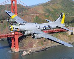 B17 Flying Fortress World War II bomber  -- San Francisco, USA.