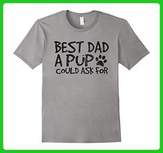 Mens Best Dad a Pup Could Ask for Fathers Day T-Shirt From Dog Medium Slate - Holiday and seasonal shirts (*Amazon Partner-Link)