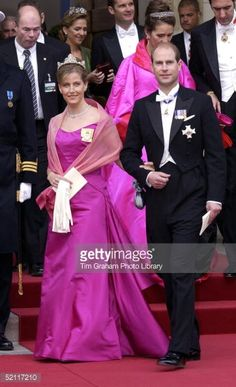 The Earl And Countess Of Wessex At The Royal Wedding In Copenhagen Cathedral
