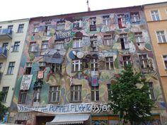 Street Art on Building in Kreuzberg, Berlin, Germany
