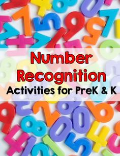 number recognition activities for prek and k