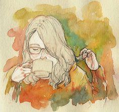Adara Sanchez. Pencil and Watercolor.