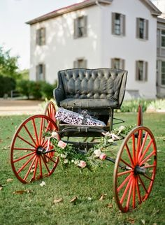 Red-wheeled wagon