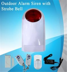 61.58$  Buy here  - Outdoor Alarm Siren With Strobe Bell   Burglar Alarm System