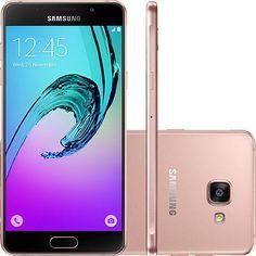 Smartphone Samsung Galaxy A7 2016 Dual Chip Android 5.1 Tela 5.5 16GB 4G Câmera 13MP - Rosé