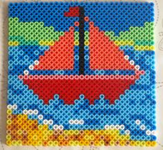 Summer! Perler beads patterns - lots of ideas for Summer beading (also known as Hama beads)