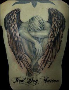 Angel tattoo ~Reddogtattoo on deviantART