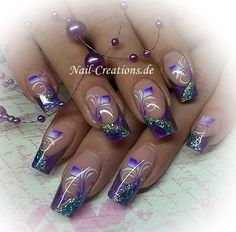 32 Ideas pedicure designs with rhinestones purple Dope Nail Designs, Purple Nail Designs, Nail Polish Designs, Beautiful Nail Designs, Fingernail Designs, Pedicure Designs, Camo Nails, Purple Nails, Camo Nail Art