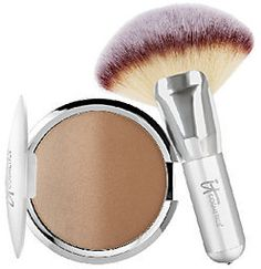 IT Cosmetics CC Anti-Aging Ombre Radiance Bronzer w/ Luxe Mega Fan Brush#sponsored
