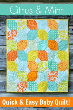 Quick Spring-time quilt for baby + Free pattern