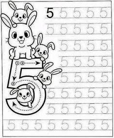 New System-Suitable Numbers Line Study - Preschool Children Akctivitiys Preschool Writing, Numbers Preschool, Preschool Learning Activities, Preschool Printables, Preschool Lessons, Kids Learning, Kindergarten Math Worksheets, Math For Kids, Kids Education
