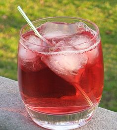 Jolly Rancher  (1.5 oz. Apple Pucker  1.5 oz. Peach Schnapps  1.5 oz. Cranberry Juice)