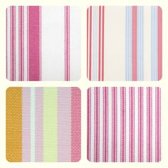 French Ticking stripes, mix them up front and back for cushions.