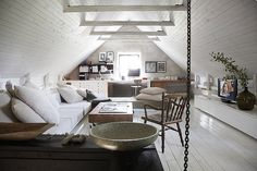 Swedish country home - love the interior design!