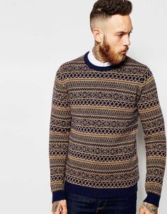 ASOS+Lambswool+Rich+Jumper+in+2+Colour+Fairisle